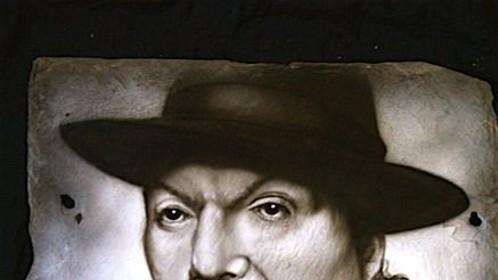 """Dr.John""  acrylic on roofing slate"