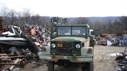 Unloaded at the scrap yard.