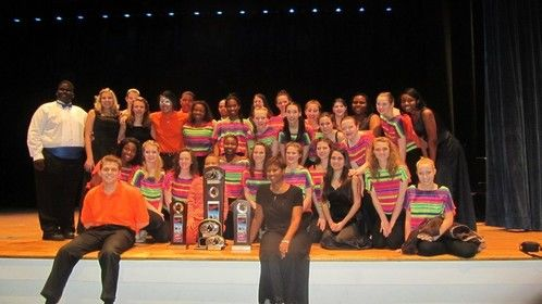 J.L. Mann Show Choir victory in New York! We left with 1st place trophies!