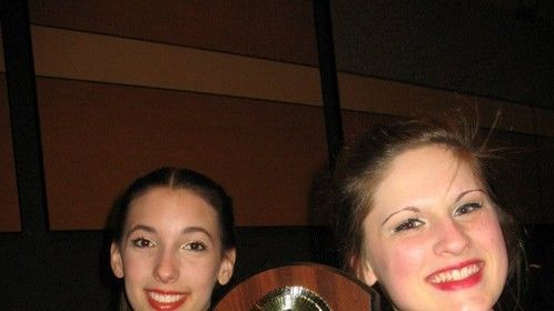The Show Choir captain and I, as we proudly hold up our victory!