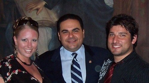 co-directors Crystal-Dawn & Christian Blaze (CNC Ent.) with Salvadoran President Tony Saca (2006)