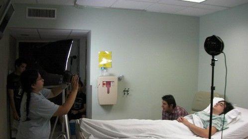 "On the set of ""Somnium Puella""."
