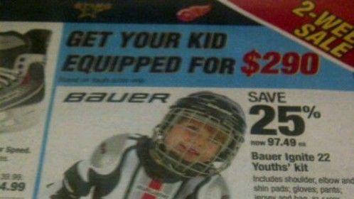 CDN Tire hockey ad