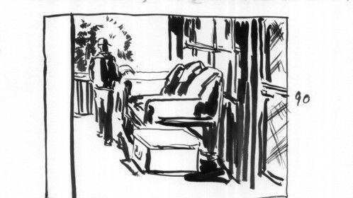storyboards from the movie THE SCHENECTADY PACKAGE