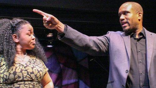 "Colin Ivan Osborn playing the womanizer ""Min. Damon"" in the hit gospel musical stage play PREYIN ON FAITH (2014)"