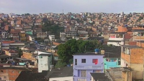 View over the favela of Curuzu taken from Ile Ayé's new recording studio.