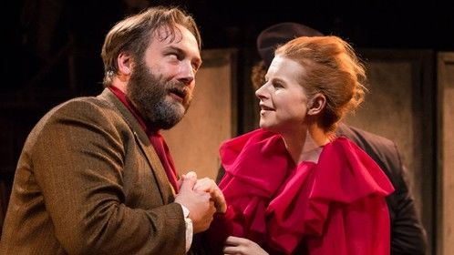 with Bryan Pilkington in The Cherry Orchard