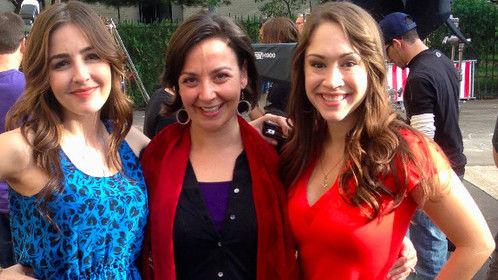 On set with Diana DeGarmo and Natalie Knepp for the film Alto