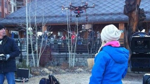 """First live TV remote microwave broadcast via """"Bravo"""" -- our hexacopter."""