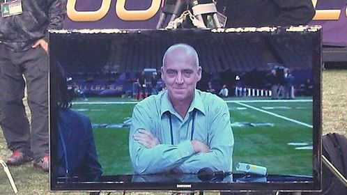Me! When I worked as a stand-in for NFL Network...