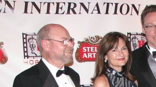 "On the Red Carpet at the Hoboken International Film Festival for my role as ""Valerie Smith"" in ""The Factory."""