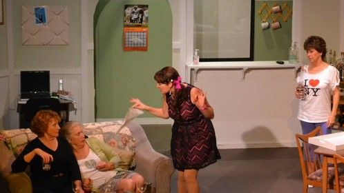 """Playing the role of Sylvie in Neil Simon's """"Odd Couple"""" female version. Winter 2014."""