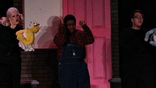 "Performing in ""Avenue Q"" as the Bad Idea Bear (2014)"