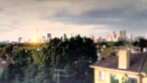city view from my oldpenthouse roofdeck 12 Eildon Rd St Kilda Melbourne Australia