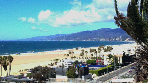 View from Pacific Palisades Park, Santa Monica.