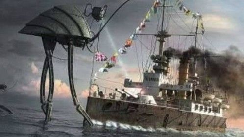 """Rendering for the original HG Wells novel """"War of the Worlds"""" set in London in 1898!"""