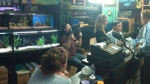 On the set of Saltwater Visions