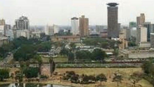 "Nairobi --Kenya skyline beautiful  ""the famous city in the sun"