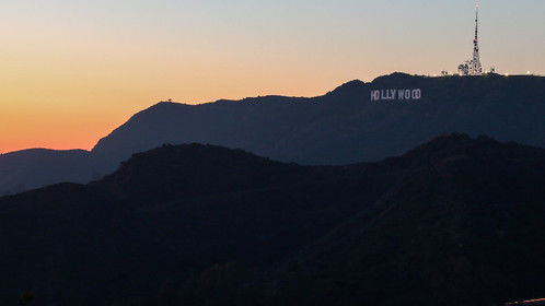 A February sunset from the Griffith Observitory