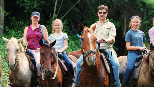 Family vacation in Belize...says a whole lot about us in one shot.