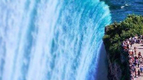 This photo is a good example of perspective. The monster waterfall that is Niagara Falls, combined with tourists directly to its right.