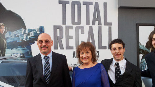 Our family at Total Recall premiere in L.A. - August 2013