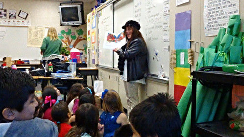 As an author and storyteller/voiceover artist, I was invited to read my book to the schools.