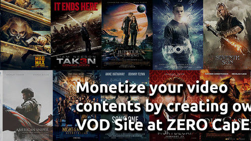Monetize your Video content with Own Video streaming Platform.