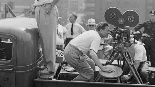 Photo by Stanley Kubrick on the set of Naked City 1947