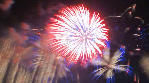 Final night of the three-day Bay City (Michigan) Fireworks Festival - July 4, 2015