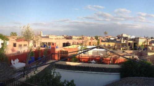 Marrakesh, Morocco at sunset.