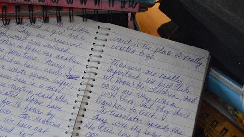 Journal entry from a trip to Ecuador as a volunteer with a child development agency in 2004.