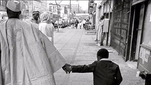 African Father and Son in New York city 116st Harlem