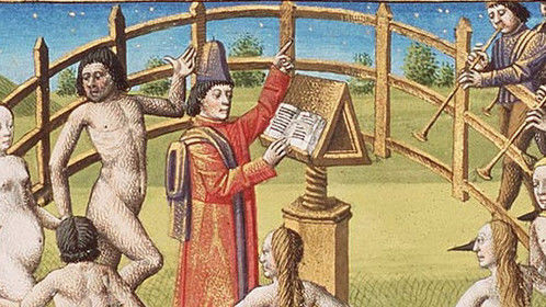 What medieval people did since they didn't have movies.