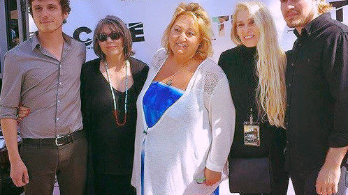 "At my screening of ""The Other Kind"" at the Cinema at the Edge Film Festival in Santa Monica with the of my actors and the director of the festival."
