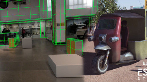 Left: matchmoving - right: Tuktuk 3D model