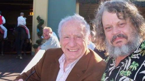 Mel Brooks and Dell Yount @ Santa Anita Park.
