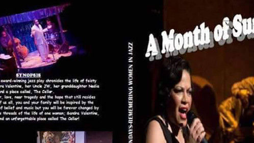 """This is the DVD cover from my touring stage play """" A Month of Sunday's: Celebrating the Great Women of Jazz"""". Goggle it and you might still be able to buy a copy from the Producer. Thanks. MLH"""