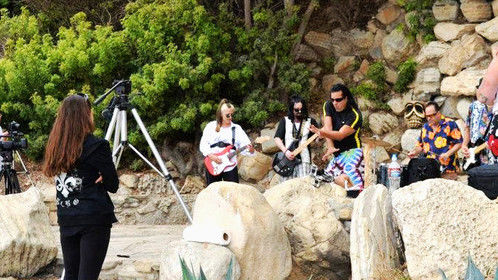 Voodoo Surfer 2099 (video shoot) JohnnyX and The Wild (band)