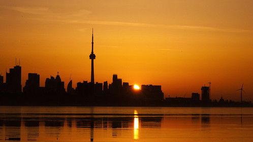 Toronto Skyline at dawn.