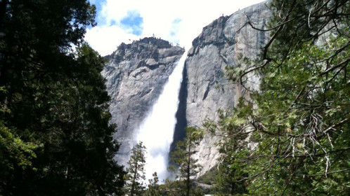 Falls in Yosemite National Park about 2010