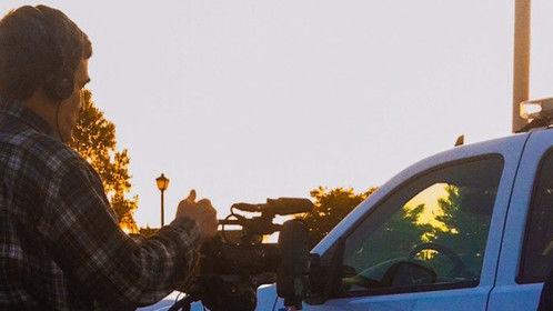 Filming a promo video for New Castle County, DE Paramedics