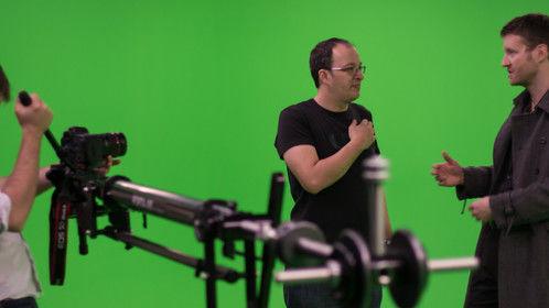 Filming my short film IN A DREAM at a green screen studio in London.