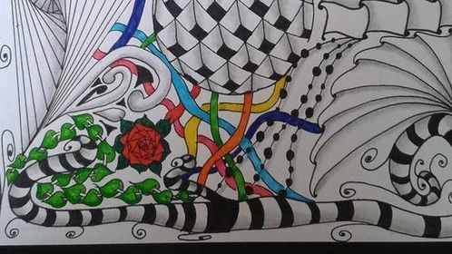 This is just one of the pieces of Zentangle Inspired Artwork that I have created. You can see more at www.facebook.com/boobyandthebeads