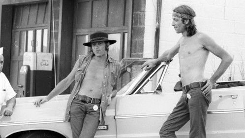 Malcolm Hart and Mike Margetts filming at Woodstock August 1969