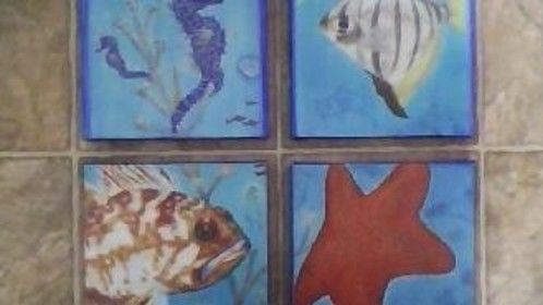 Ocean Life Series Original Art by Merrietta Skold  Cards and Prints Available