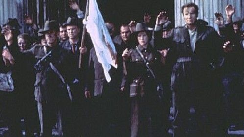 Me, playing Padraig Pearse (leader of the 1916 Easter Rising), surrendering along with Liam Neeson and Aidan Quinn in the Michael Collins movie.