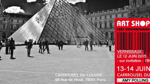 """Exhibition of my work at """"Salon ArtShopping"""" le Carrousel du Louvre in Paris (FR)  Booth Amy Polling: C47"""