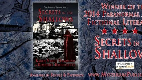 My book, Secrets in the Shallows, that I co-authored with Karen Vance Hammond, won the 2014 Paranormal Awards for Fictional Literature! I'm very excited about this win, and looking forward to my late 2014 release of book 2 in the series, Devil in the Details. I will provide release date info once it's finalized. Thanks everyone for the support!   If interested in hearing more about the new release or other info about my projects, please LIKE my Facebook author profile at: https://www.facebook.com/KimberlyBrouillette.Author.Editor