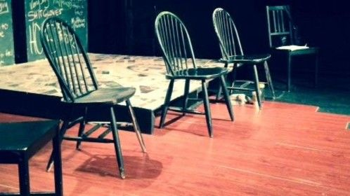 Set for a reading of my play in NYC.